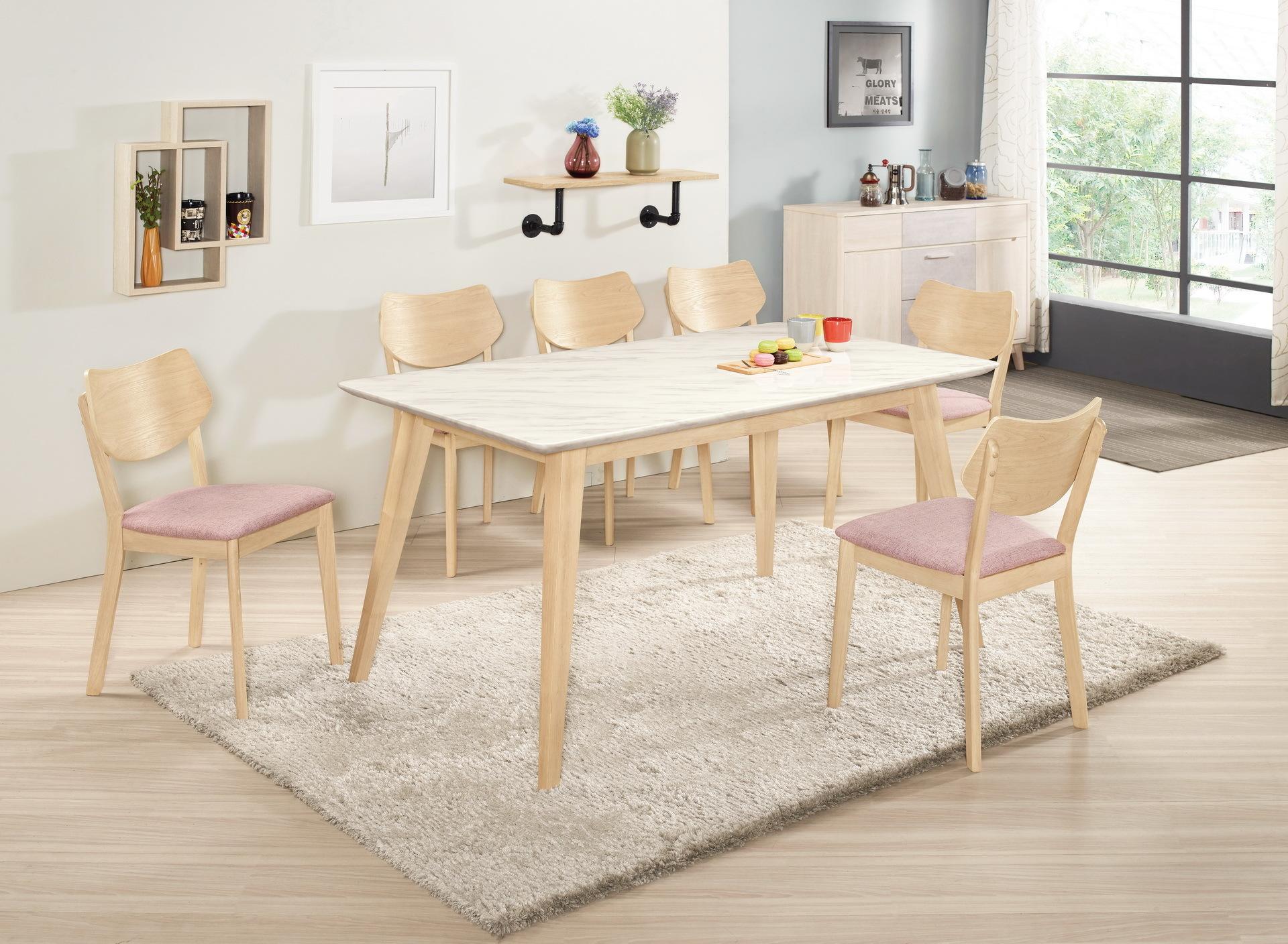 443-1 露艾琳5尺原石餐桌(洗白色)+527-13.jpg