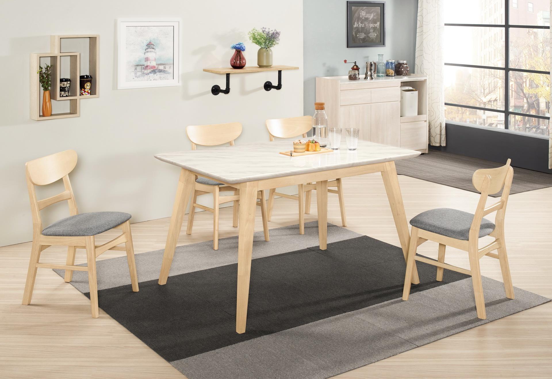 443-3 露艾琳4.3尺原石餐桌(洗白色)+527-12.jpg