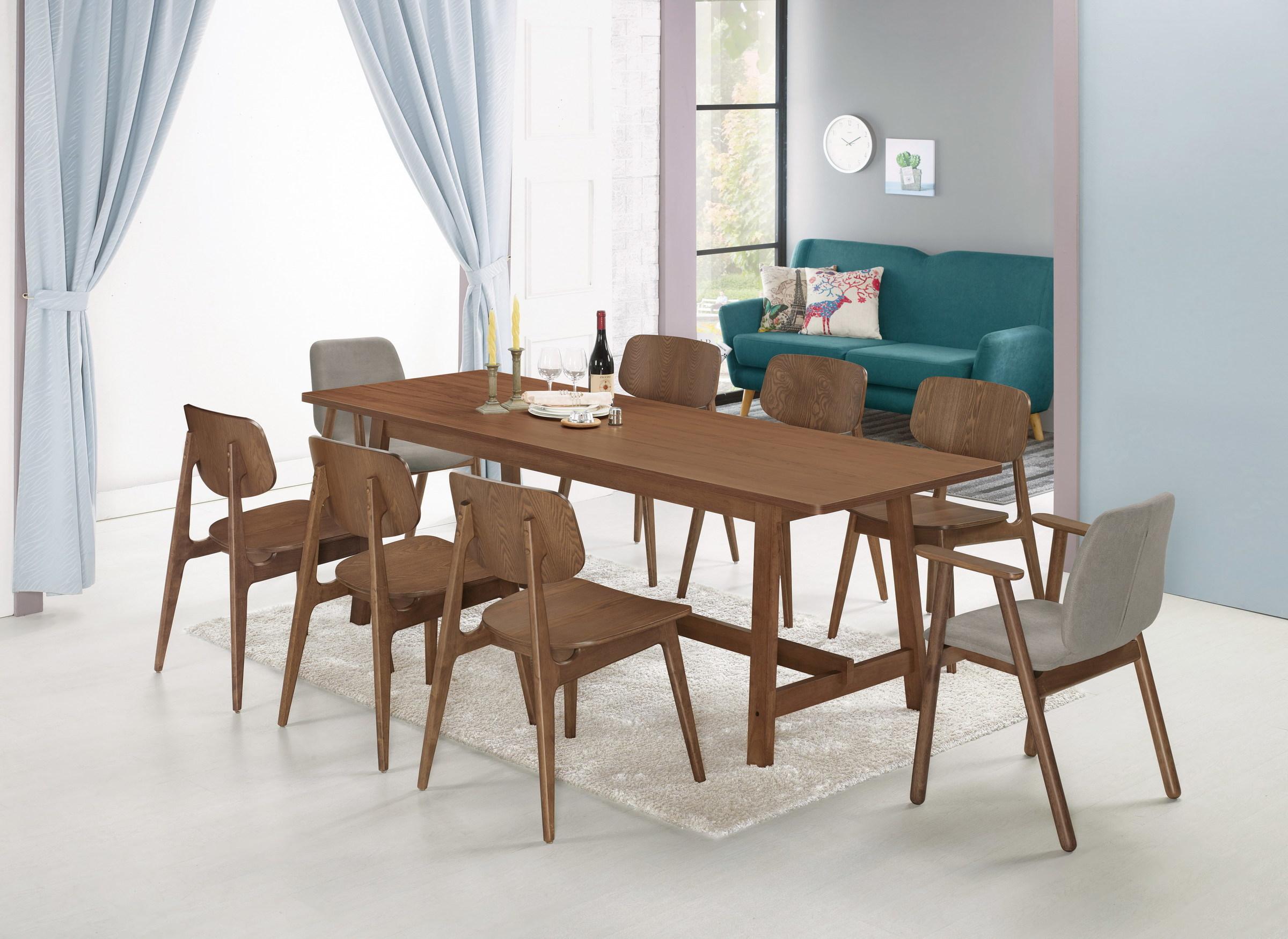 423-1 艾布納7.4尺胡桃餐桌+513-1+513-11.jpg
