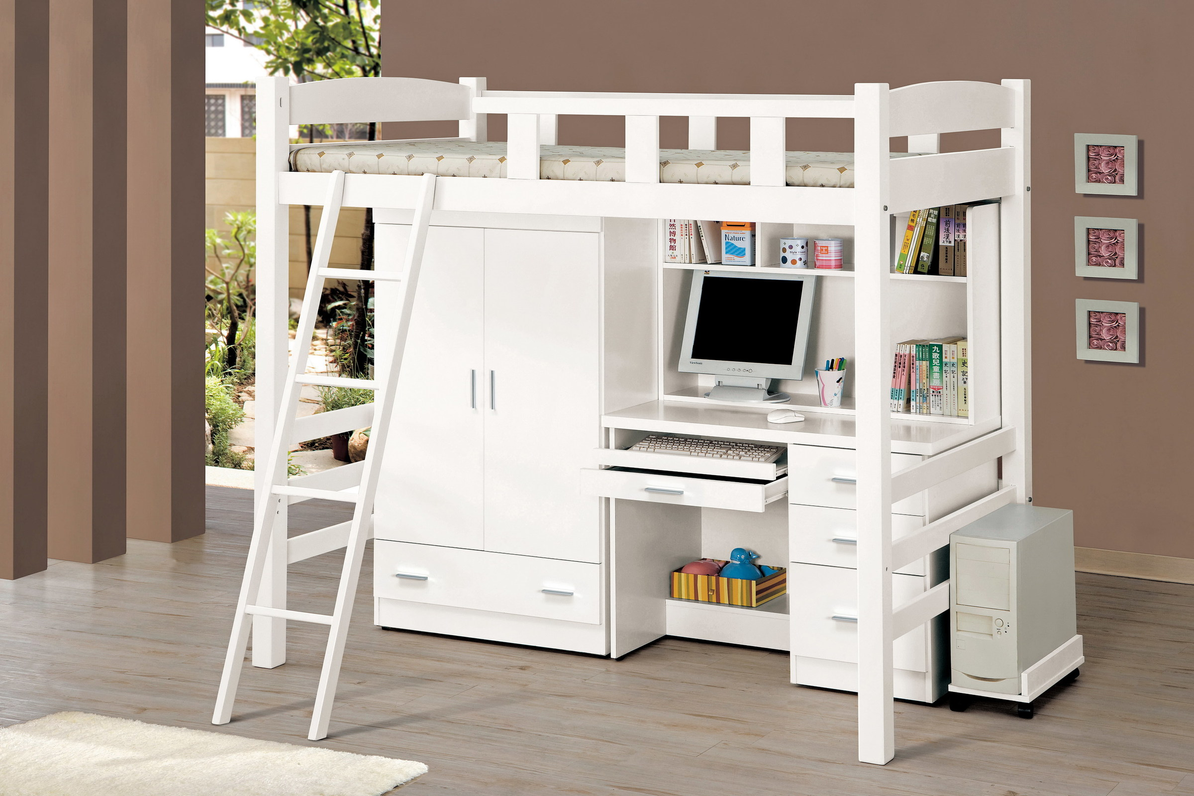 185-1 貝莎3.8尺白色多功能挑高組合床.jpg