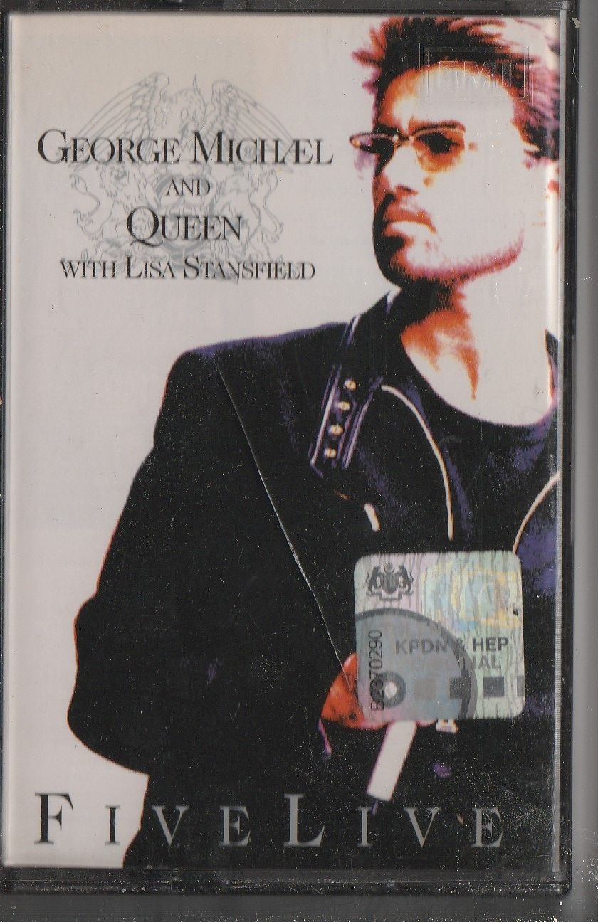GEORGE MICHAEL AND QUEEN With Lisa Stansfield – Five Live CASSETTE.jpg