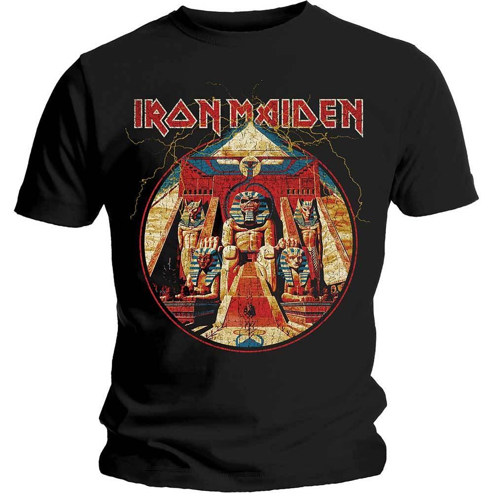 IRON MAIDEN Powerslave Lightning Circle Tshirt (Size XL).jpg
