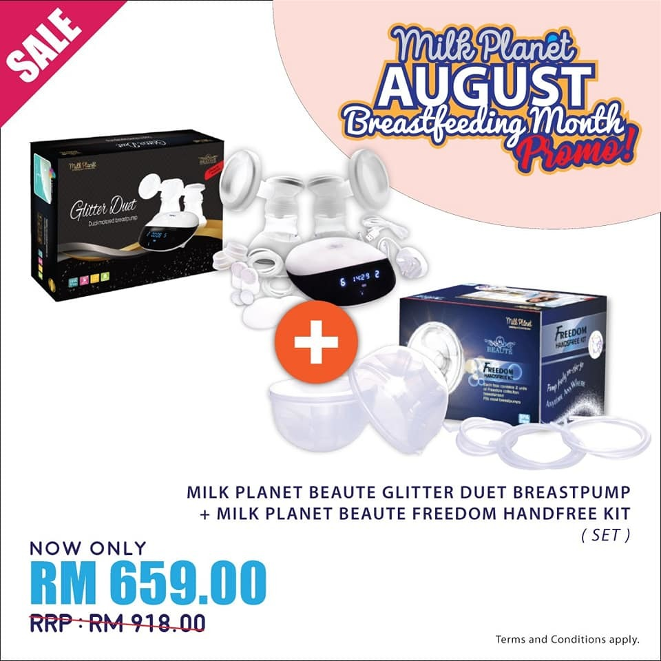Milk Planet Beaute Glitter Duet Breastpump+Handfree Kit.jpg