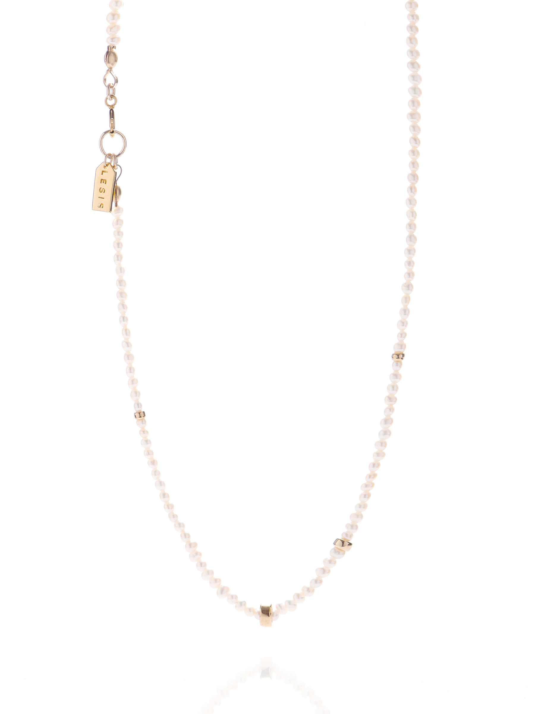 Mini Pearl With Golden Bean Necklace.jpg