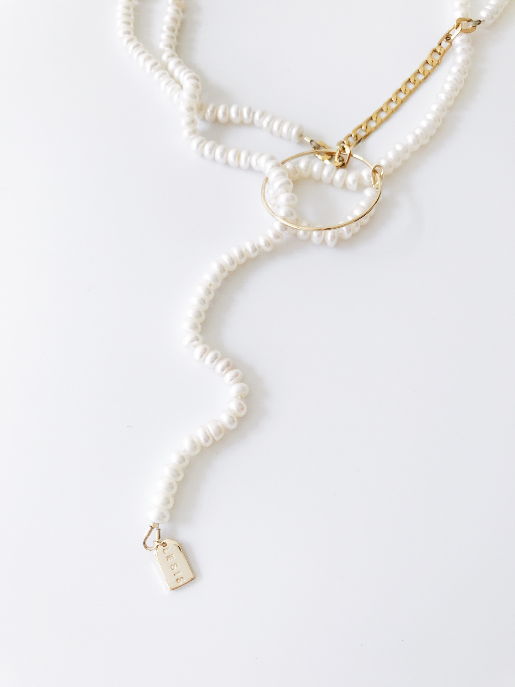 LESIS couture_Extra Long Pearl High layer Necklace_01.jpg