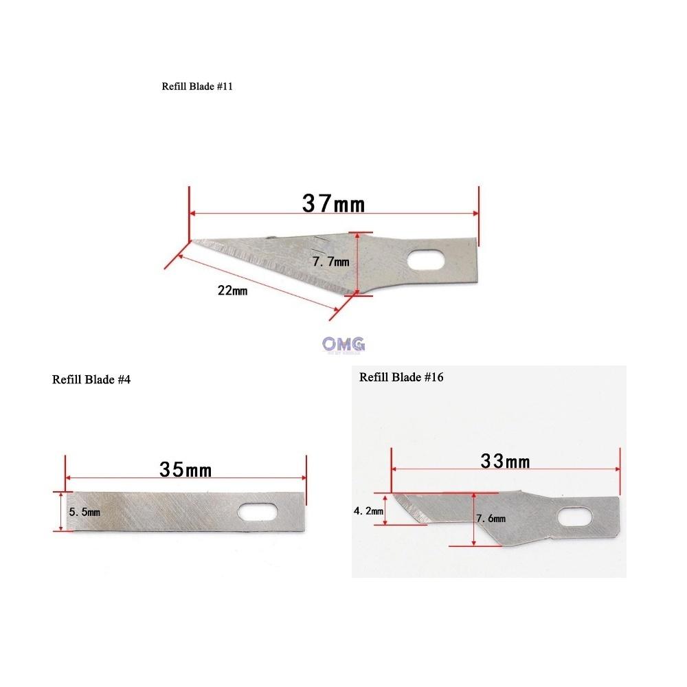 HOBBY KNIFE Refill Blade #4 #11 #16.jpg