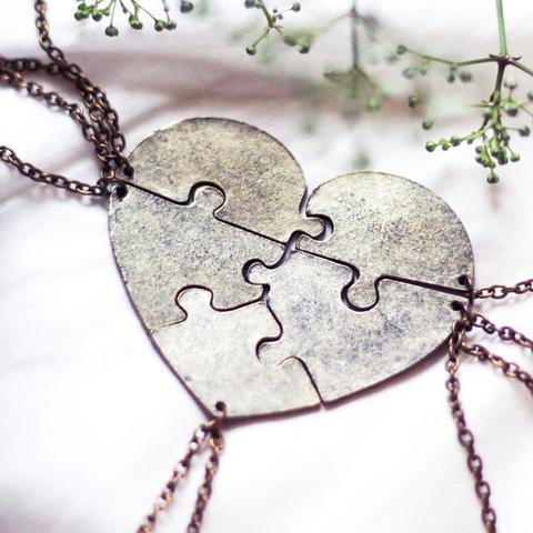 Heart Necklace Friendship