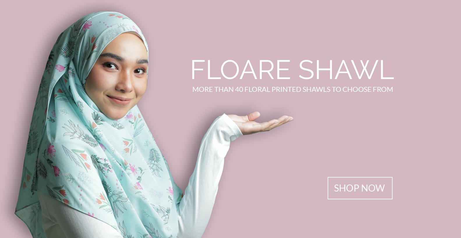 Tulip Hijab Floare Shawl