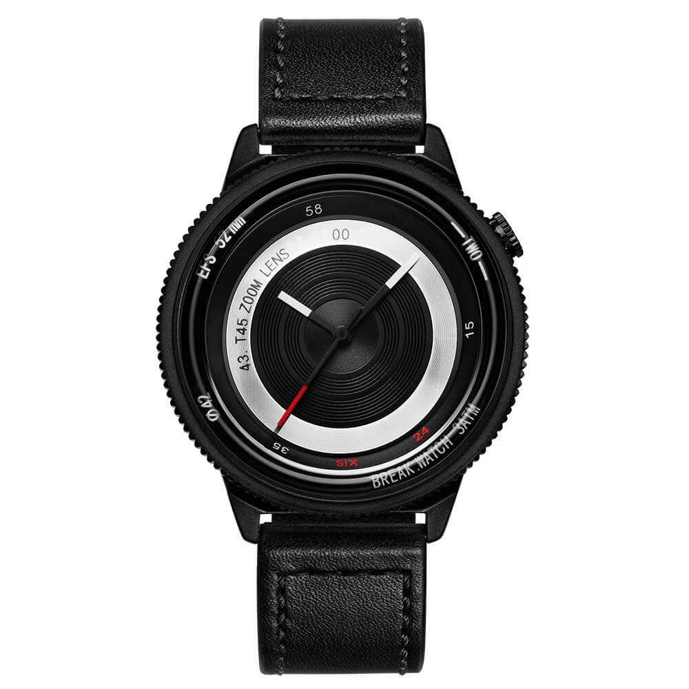 Lens Black Break Watches Black Leather.jpg