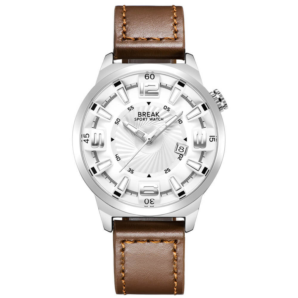 Shutter White Break Watches Brown Leather Straps.jpg