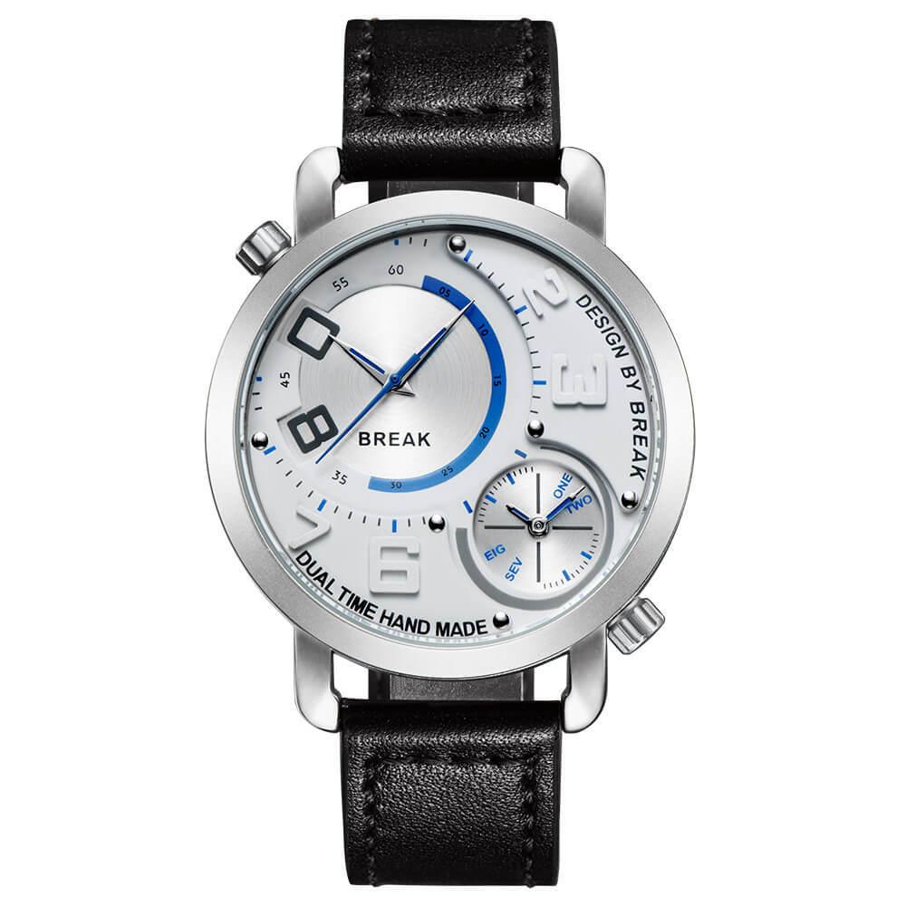 Dual Break Watches white dial black leather.jpg