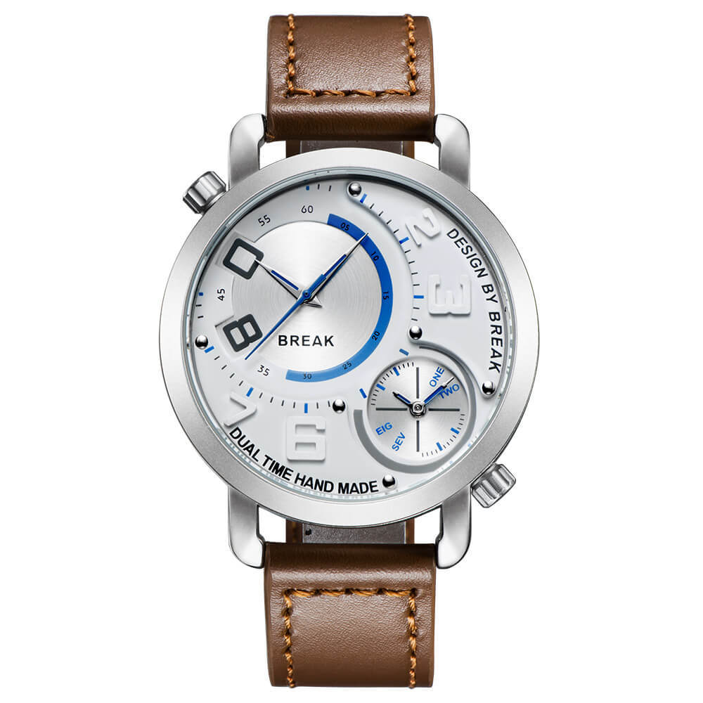 Dual Break Watches white dial brown leather.jpg