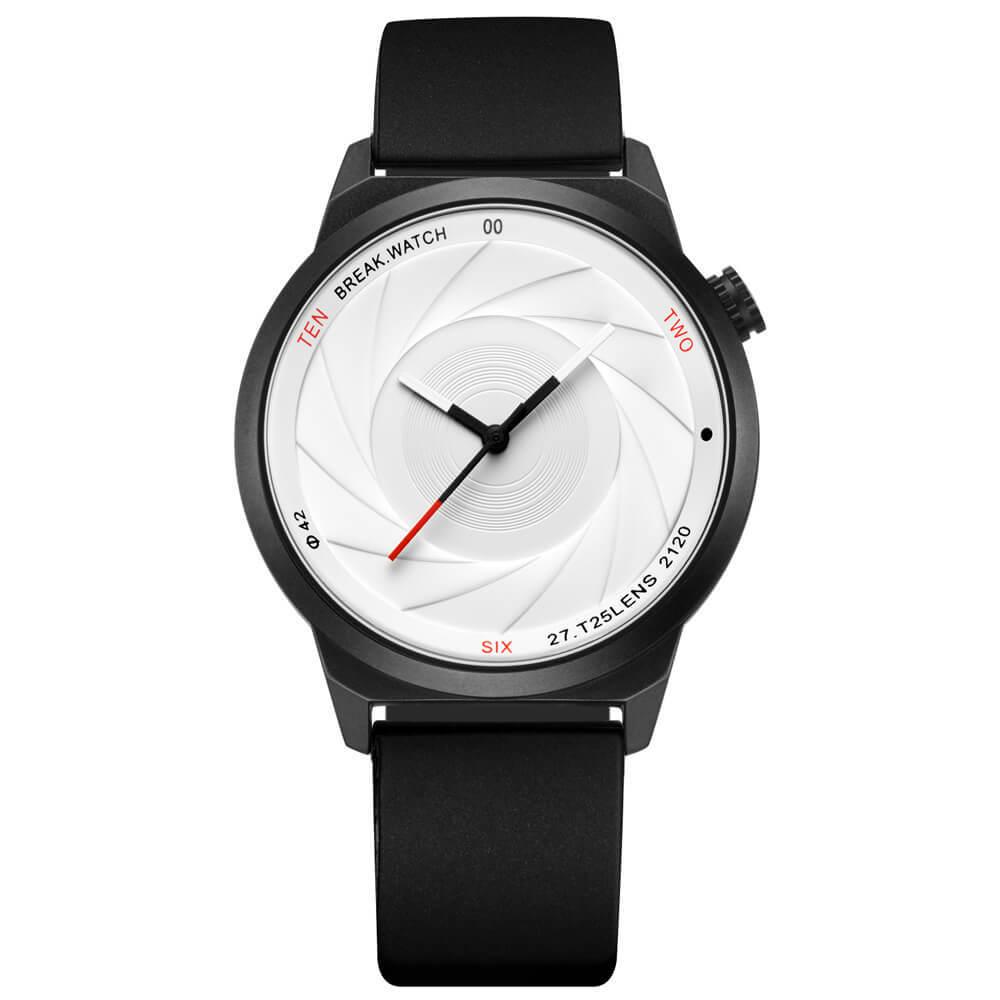 Zoom White Break Watches black rubber straps.jpg
