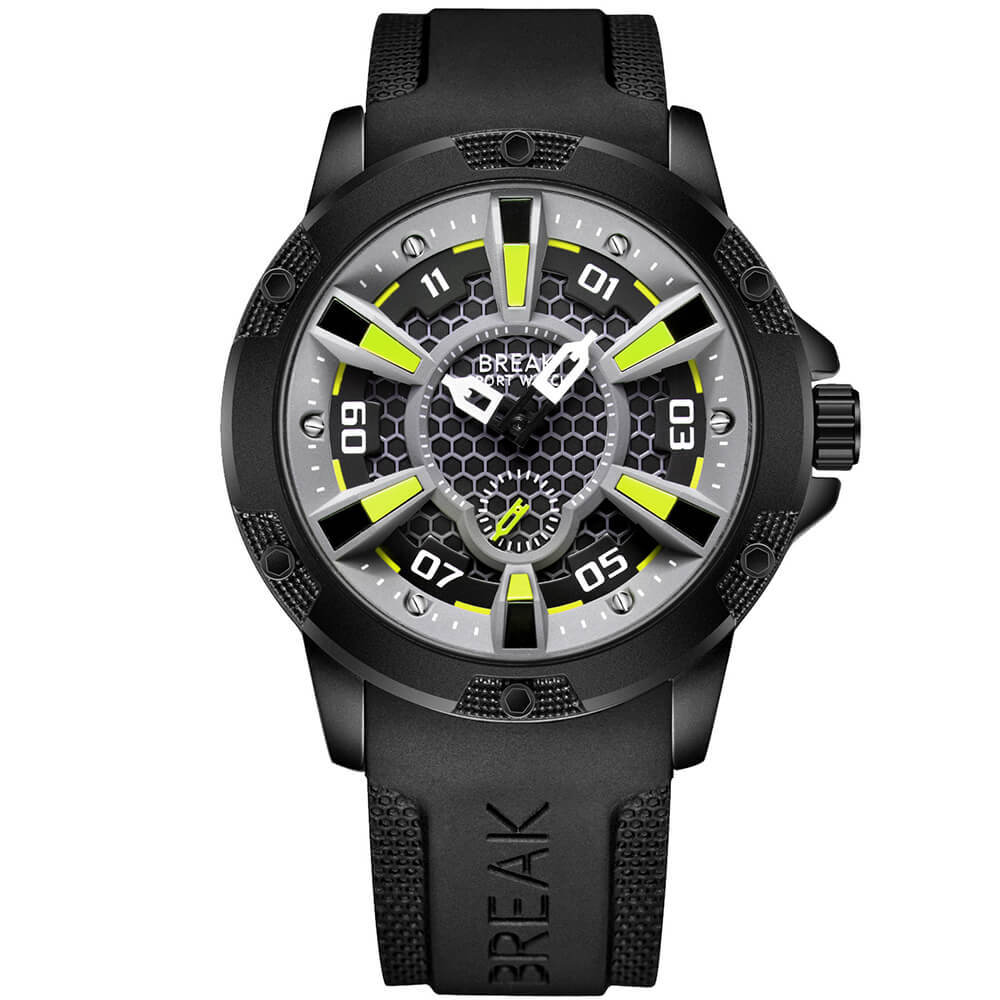 Trek break watches green dial.jpg