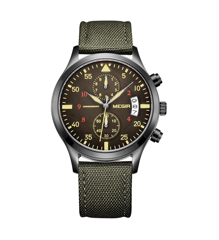 Army Green Chrono Megir Watches (4).jpg