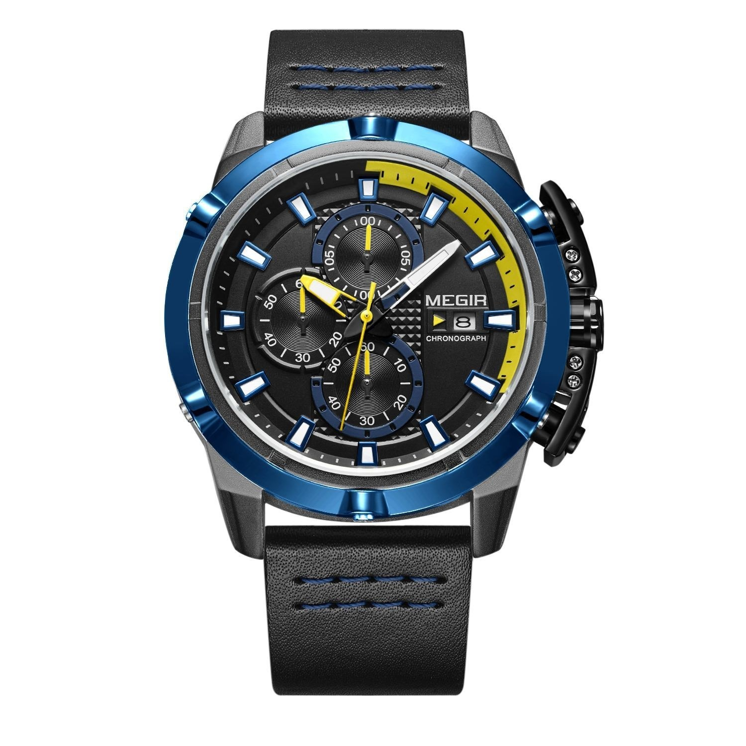 Hunter Blue Chronograph Megir Watches (1).jpg
