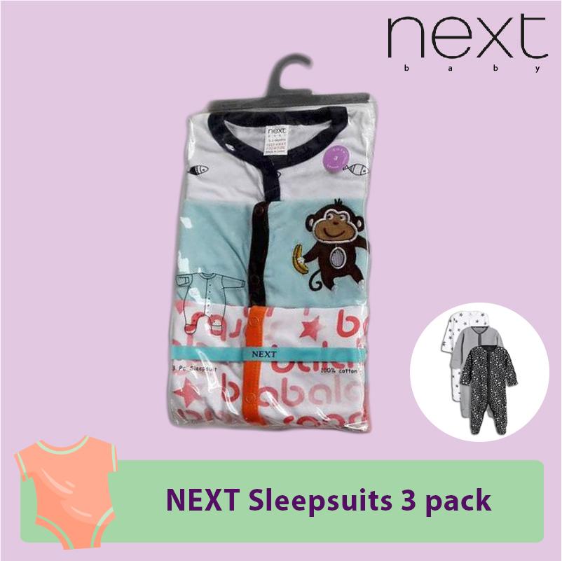 NEXT Sleepsuits button 3 pack.jpg