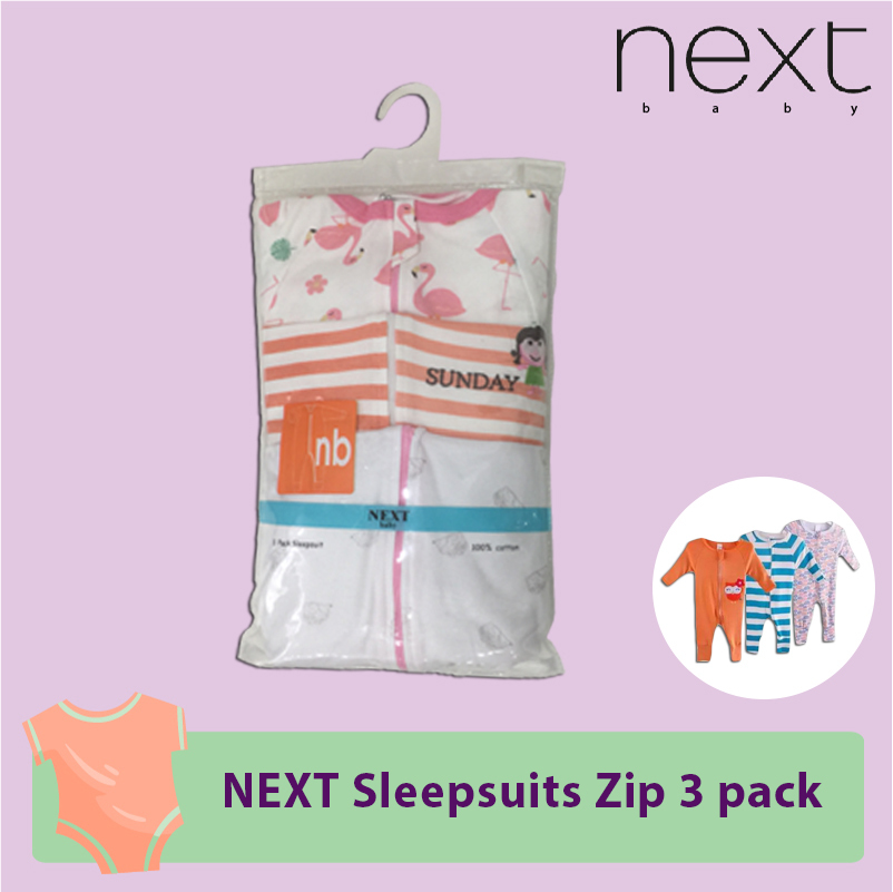 NEXT Sleepsuits zip 3 pack.jpg