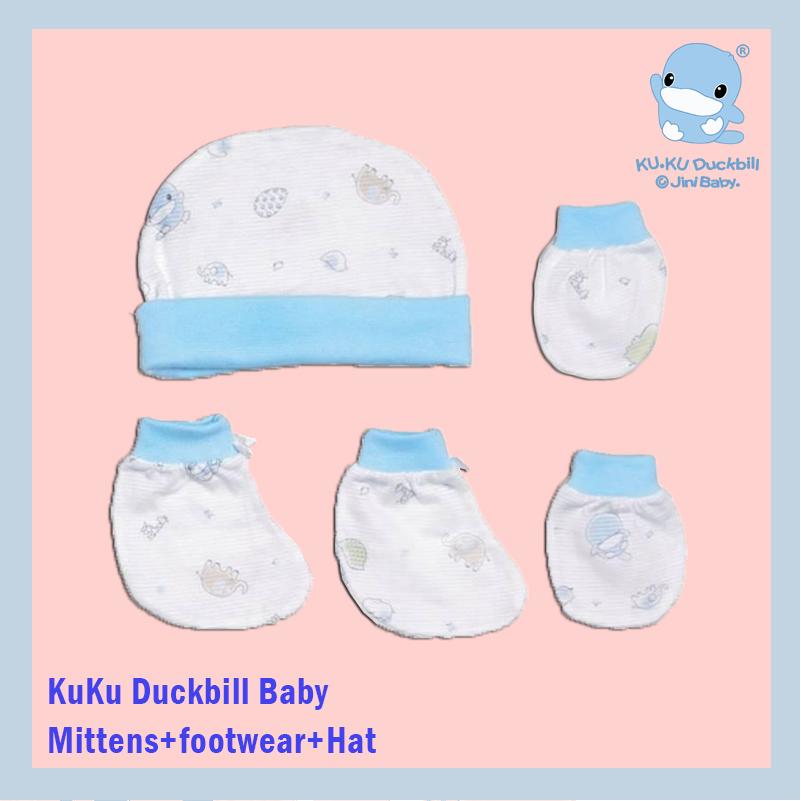 KuKu Duckbill Baby Mittens+footwear+Hat blue.jpg
