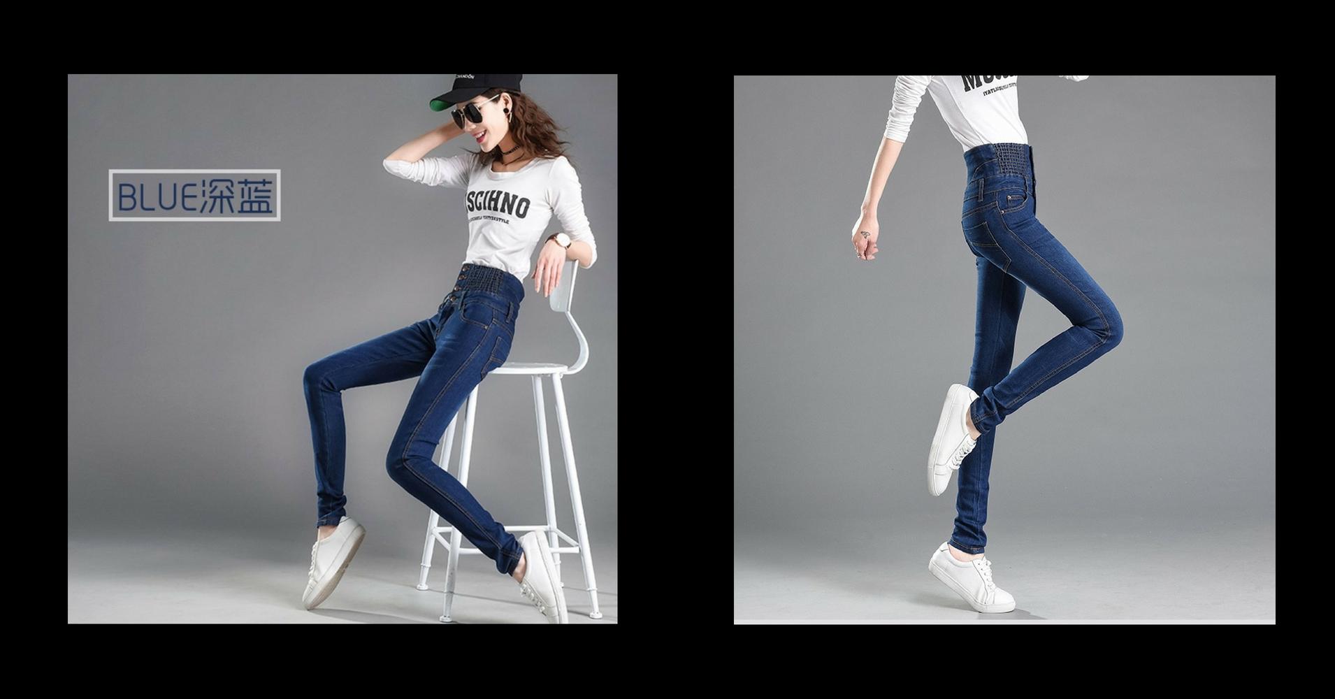 一款专为亚洲女性设计的ZALA顶级高腰牛仔裤!让你秒变大长腿!显瘦显高完美曲线展现你的魅力!.jpg