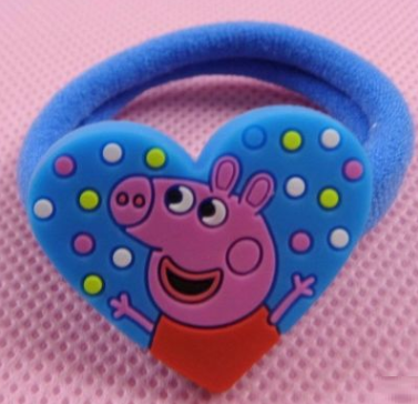 Peppa Pig Rubber Band (Blue Heart Shape).png