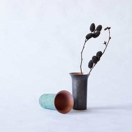 富山-折井ORII-tone銅彩花瓶-廣口花瓶花器-斑紋青銅色.jpeg