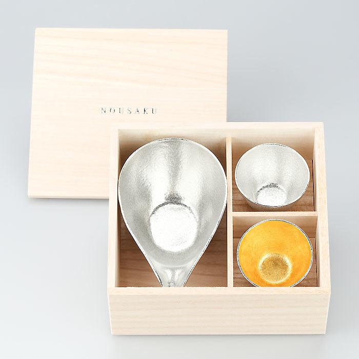 富山-能作nousaku-片口盅鳥嘴杯片口杯茶海 - L + 純錫 · 金箔清酒杯木盒組.jpeg