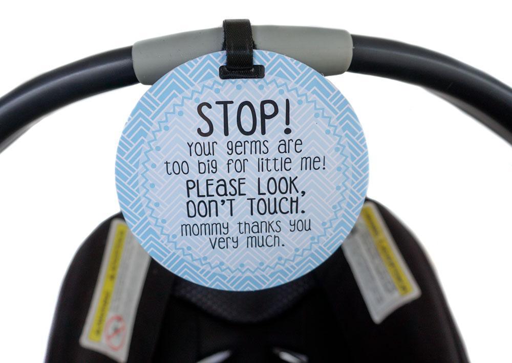 boy-gift-no-touching-car-Seat-sign-stroller.jpg