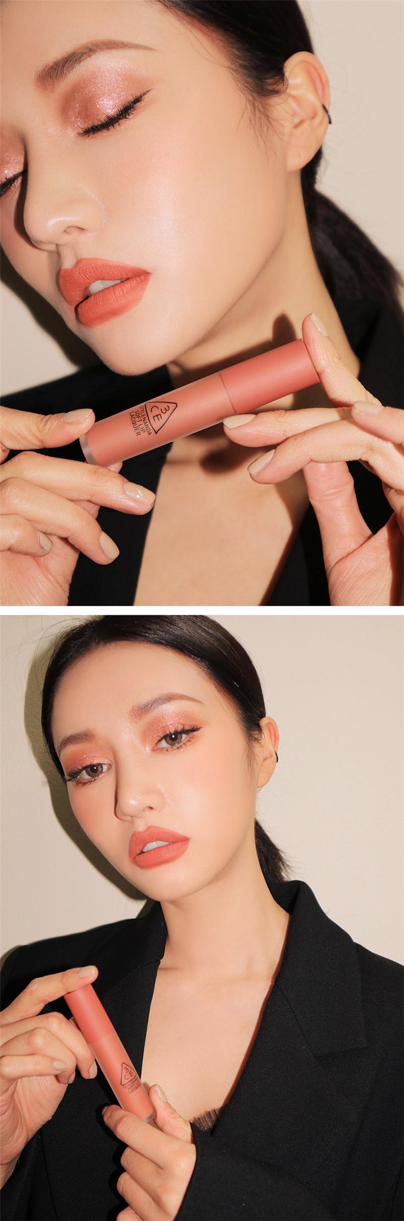 3ce Soft Lip Lacquer - Peach Tea D06.jpg