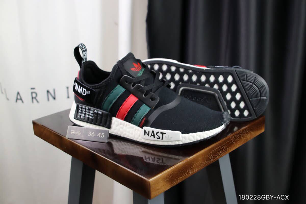 Off White x Adidas NMD Black Red Green