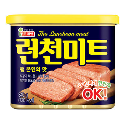Lotte Pure Pork OK Luncheon Meat 韩国猪午餐肉  340gm-1can