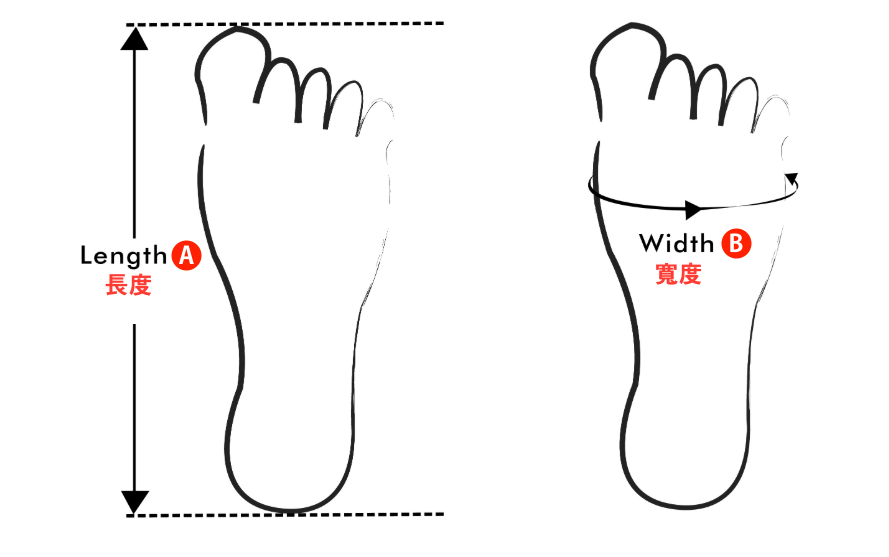 feet measurement miswear