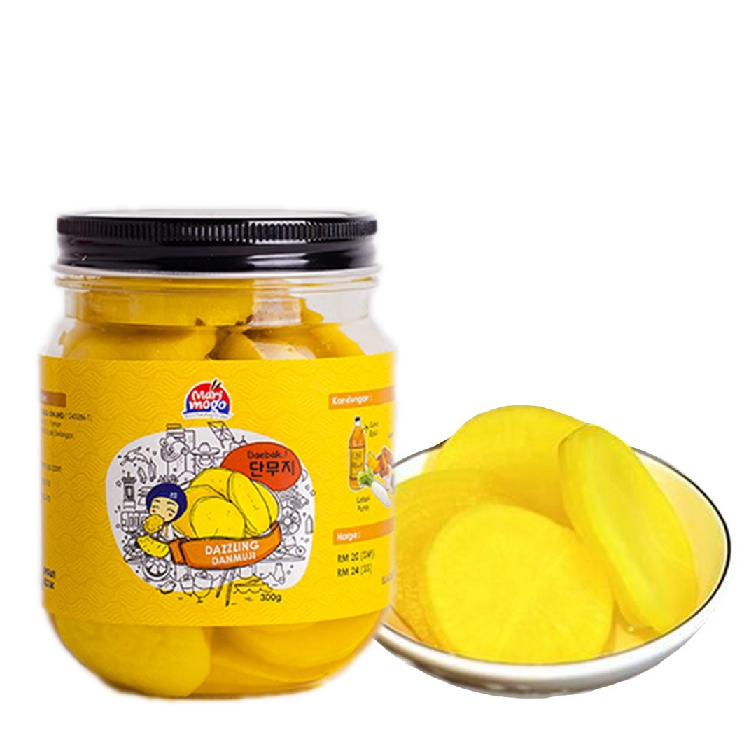 MariMogo Dazzling Danmuji Pickled Yellow Radish Korean Side Dish.jpeg