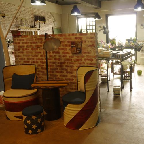 文創工作室#工業風裝飾鐵桶椅.JPG