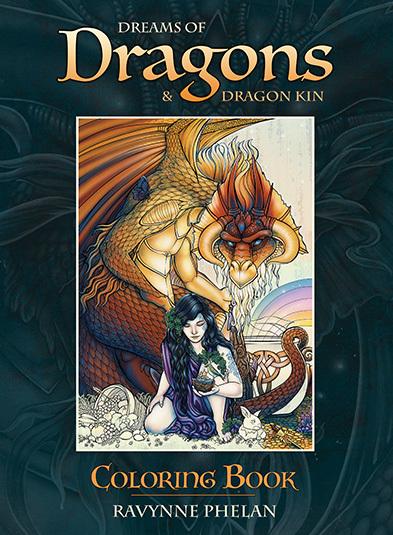 龍族彩繪本:Dreams of Dragons & Dragon Kin Coloring Book.jpg