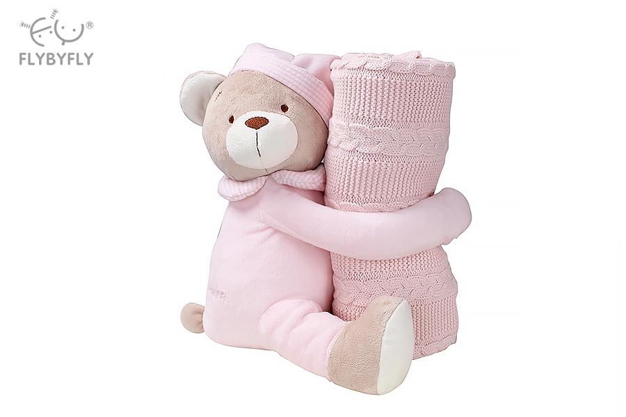 Knitted Blanket Cuddle Buddy Set (Pink).jpg