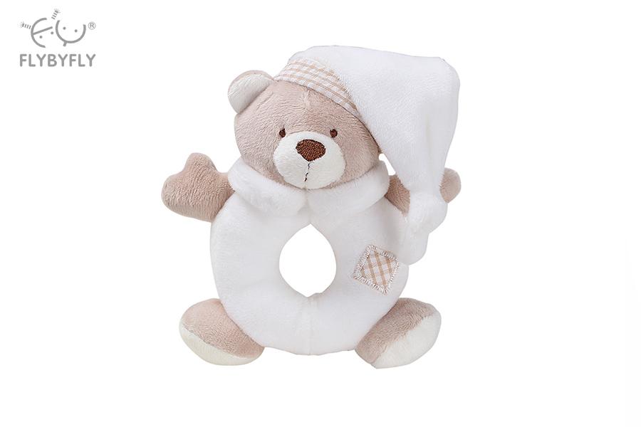 Bear Shaker Toy Ring Rattle (White).jpg