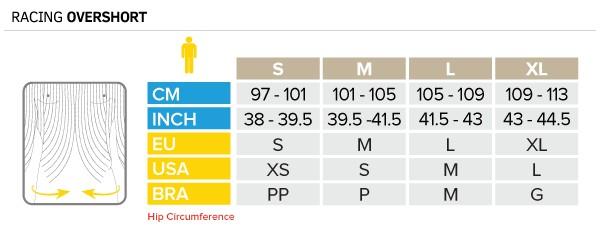 Compressport Racing Overshort M Size Guide