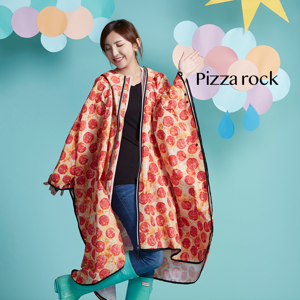 Funny Q 斗篷雨衣_Pizza rock.jpg