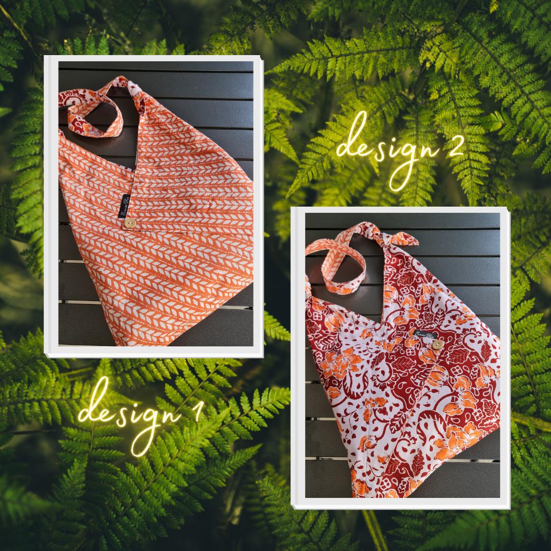 reversible batik tote bag