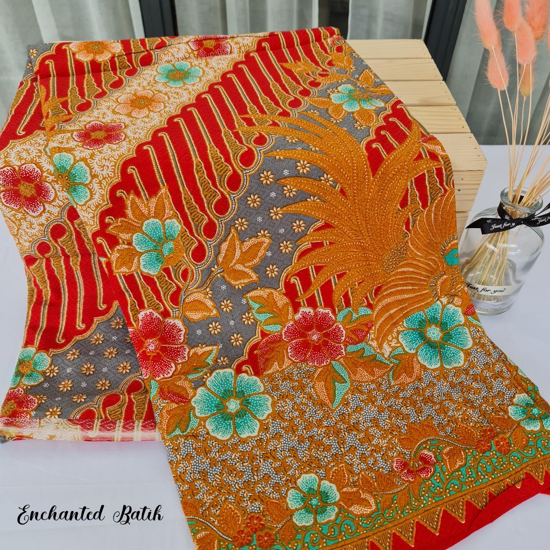 Handprint batik dobby
