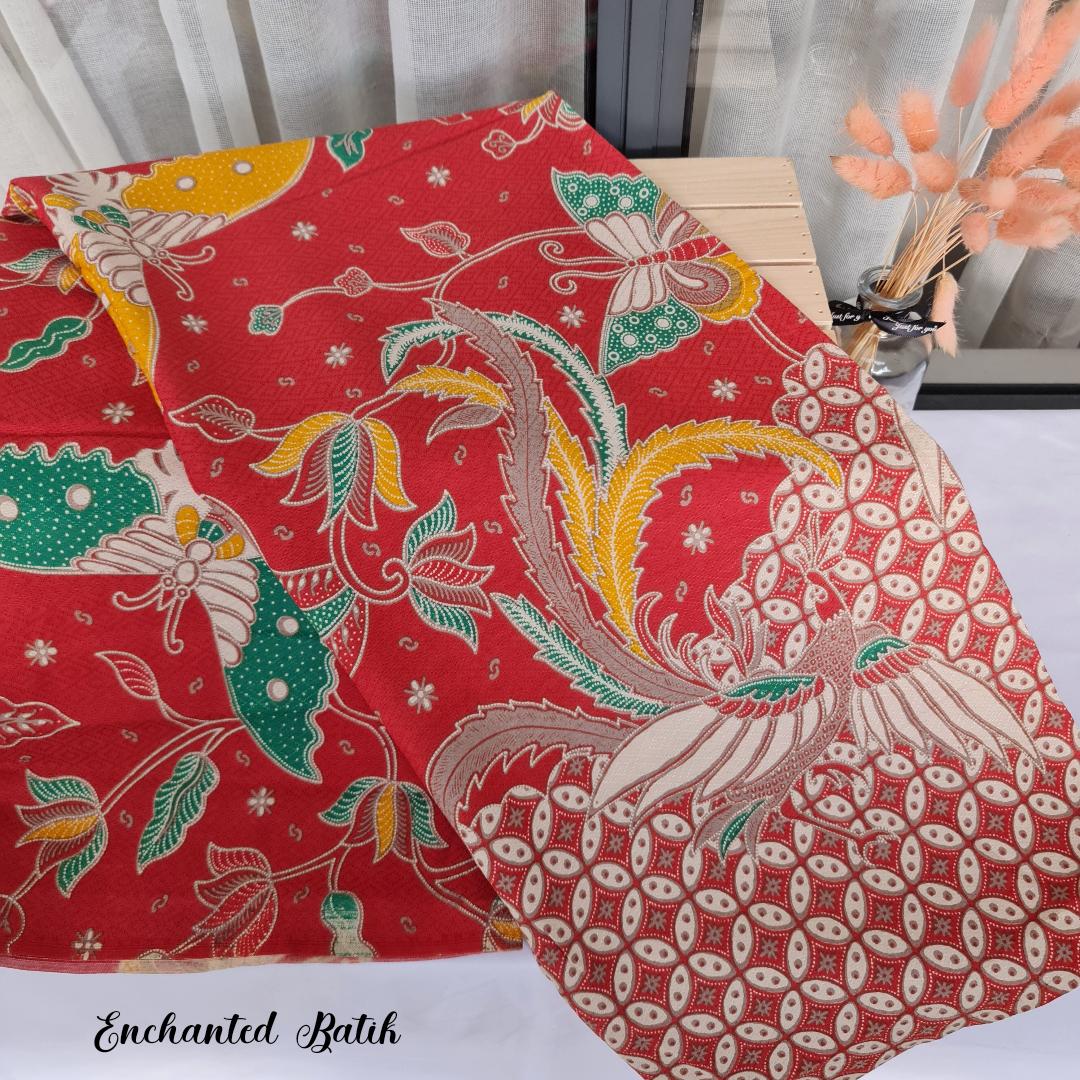 Batik dobby red