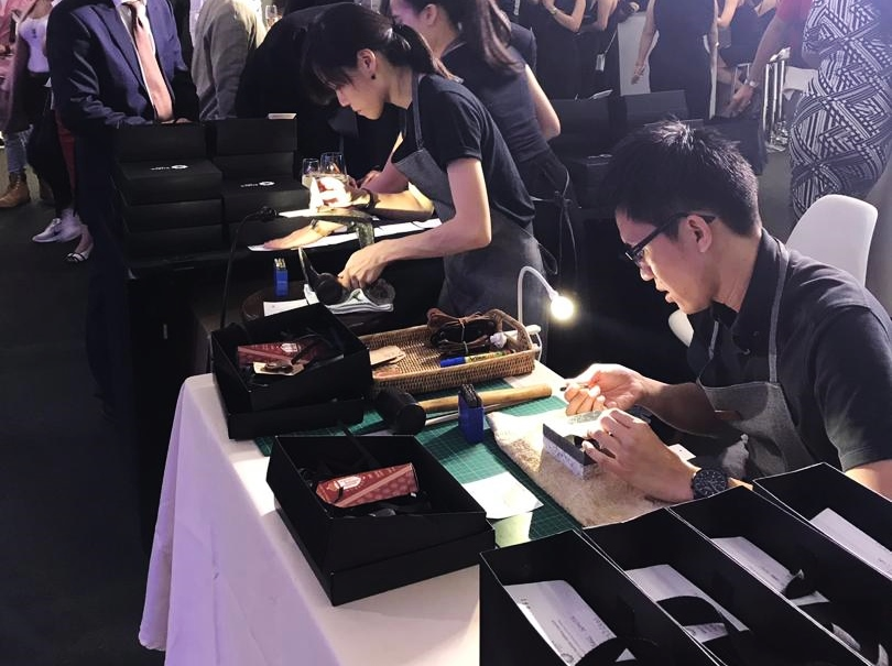 Corporate event leather personalisation