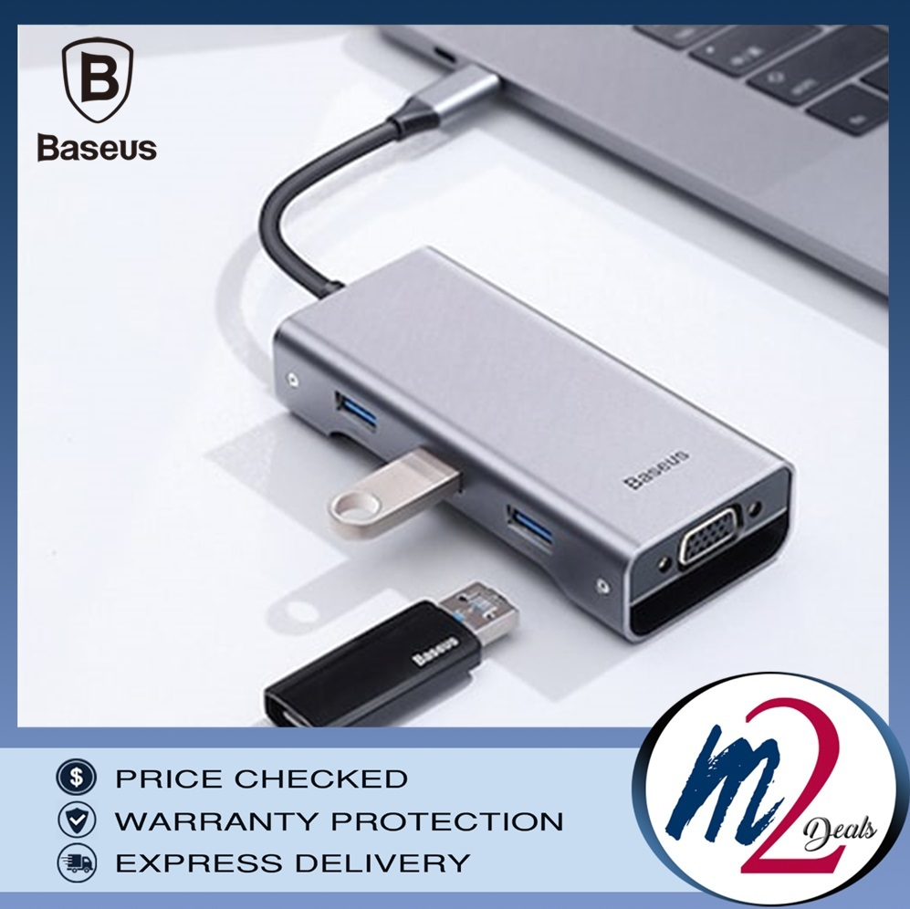 m2deals.my_BASEUS 8-in-1 Square Desk Type-C Multi-functional HUB Type-C to USB3.0_GREY_2.jpg