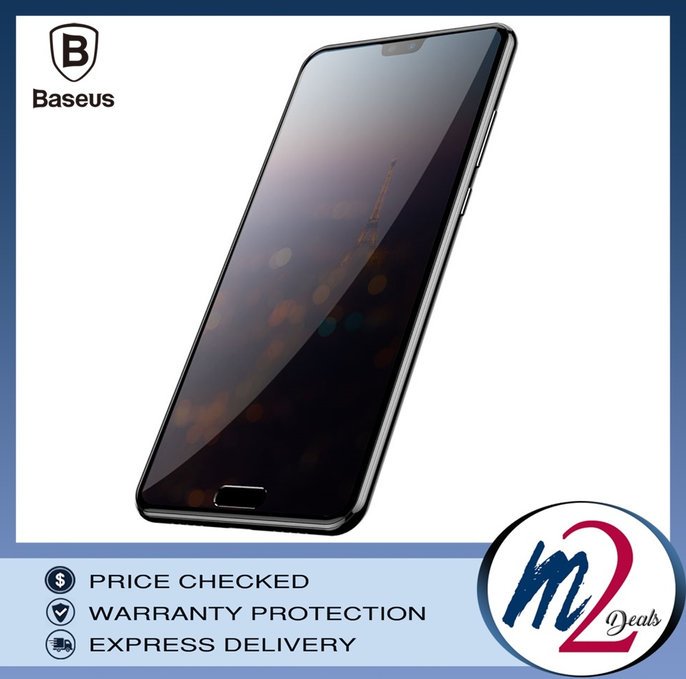 Baseus Huawei P20 0.3mm Privacy Full Cover Curve Anti-spy Black tempered glass.jpg