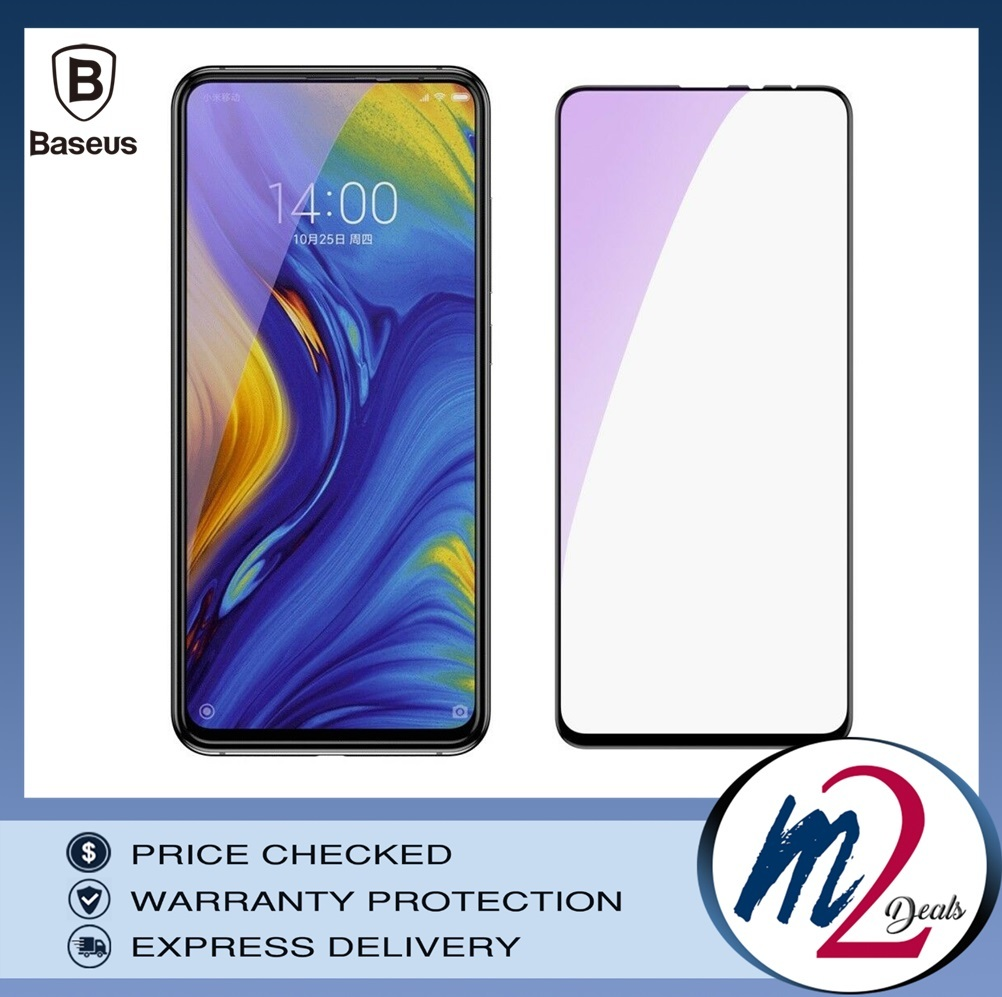 Baseus Xiaomi Mix 3 0.3mm  Anti-bluelight Full Cover Curve Black Tempered Glass_.jpg