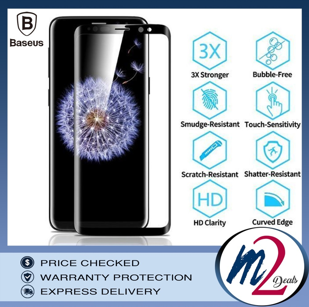 Baseus Samsung S9 and S9P 0.3mm Full Cover Curve Black Tempered Glass__2.jpg