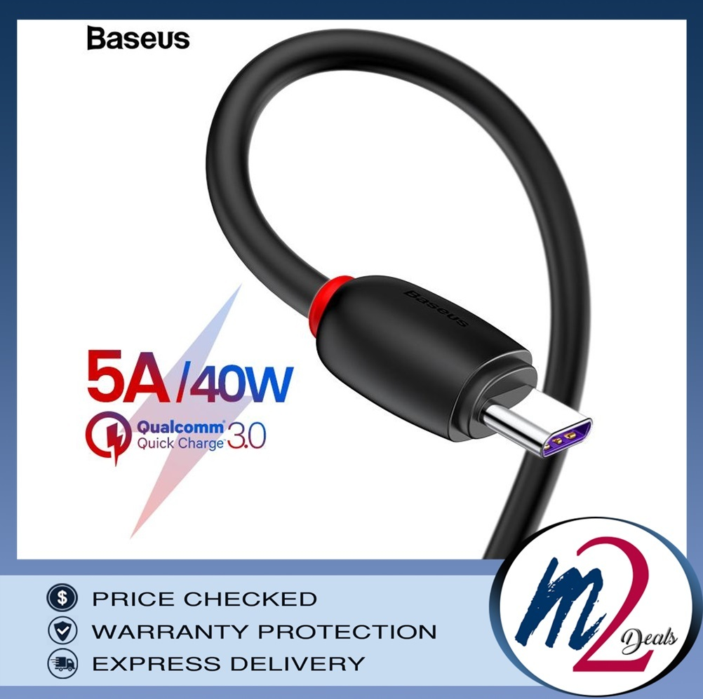 Baseus 40W 1m Type C Purple Ring Huawei Quick Charging USB Cable Black8.jpg
