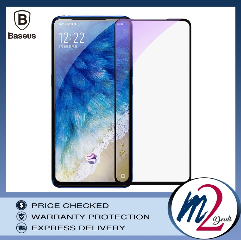 Baseus 0.3mm All-screen Arc-surface Anti-bluelight Tempered Glass Film For Vivo x27 Black_15.jpg
