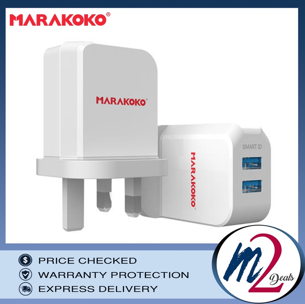12W 2.4A MARAKOKO MA42 DUAL PORT SMART WALL CHARGER UK PLUG (WHITE)_.jpg